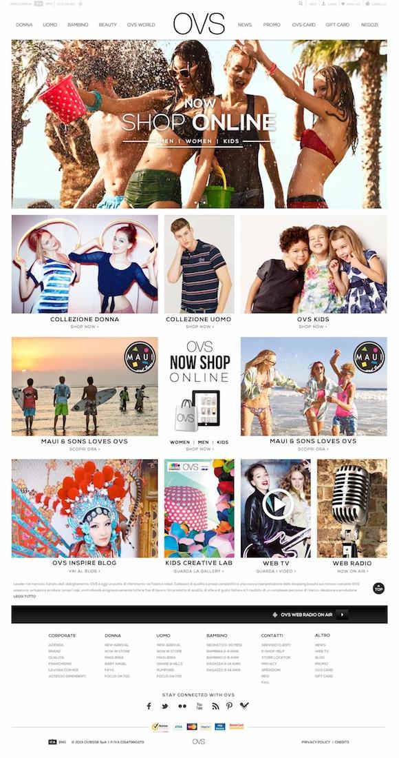 Immagine sito ecommerce OVS low